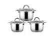Набор кастрюль из нержавеющей стали 6 предметов (4.5л, 6.3л, 7.8л)