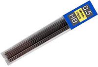 Стержни графитовые 0,5 мм, НВ, 12 шт