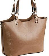 Большая классическая бежевая женская сумка от Vidoliya