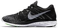 "Мужские кроссовки Nike Flyknit Lunar3 ""Black/White/Midnight Fog/Wolf Grey"" (Найк Орео) черные"