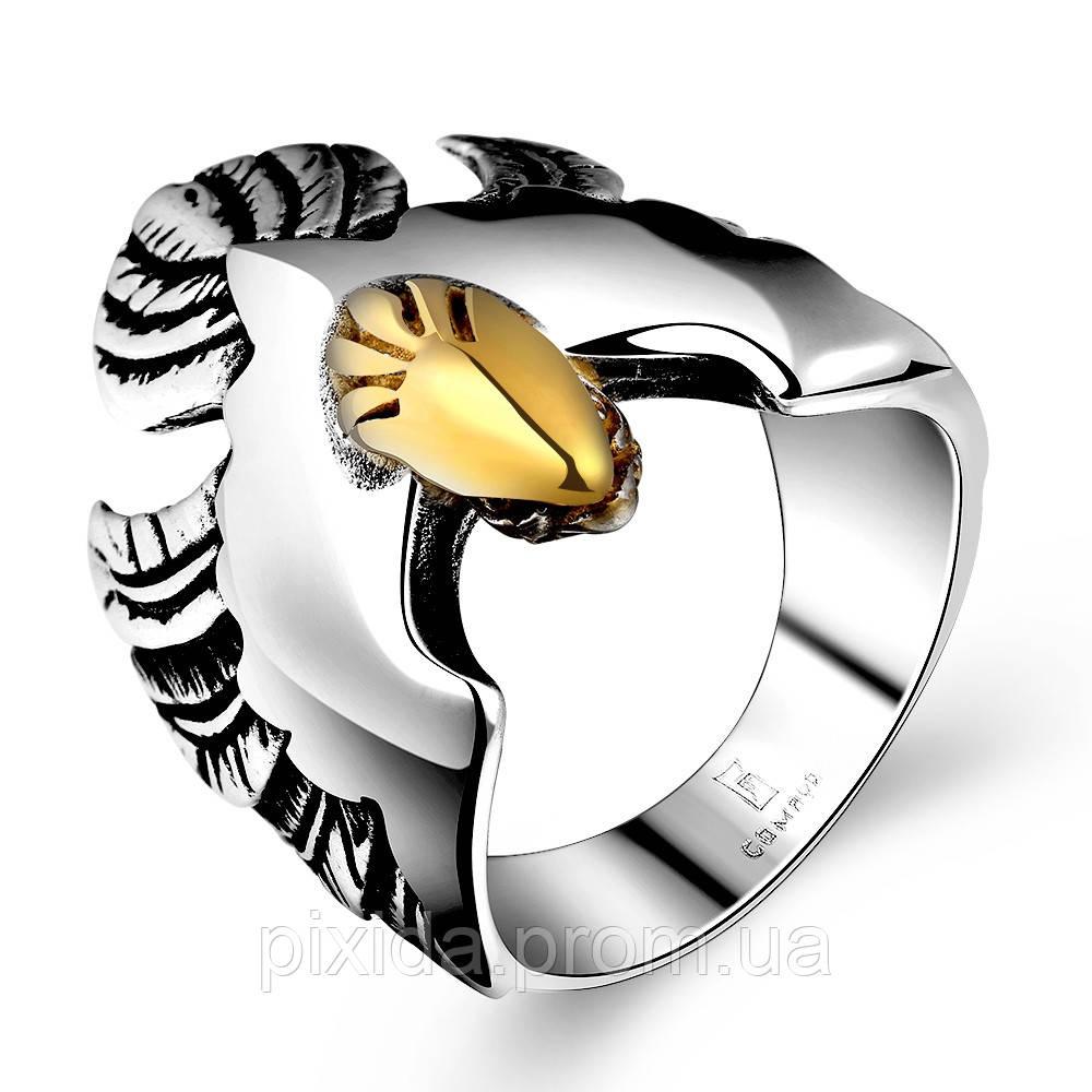 Кольцо нержавеющая сталь Ястреб
