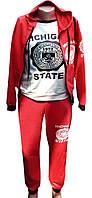 Подростковый спортивный костюм-тройка, красный, р. 146-164