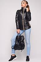 Куртка женская демисезонная черная LS-8550