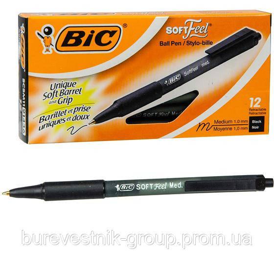 Ручка шариковая BIC Soft Feel черная