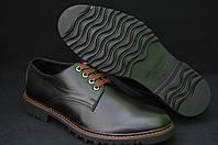 Мужские кожаные туфли на тракторной подошве Mida
