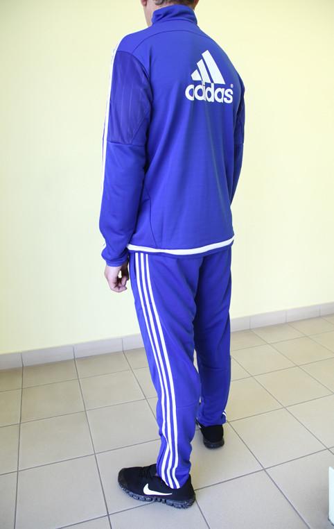 d42d756a Мужской спортивный костюм Adidas Chelsea 95984 ярко-синий с белым код 355б,  цена 1 100 грн., купить в Северодонецке — Prom.ua (ID#337608798)
