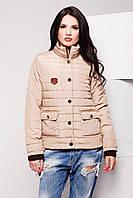 Куртка женская стильная бежевая LS-8606