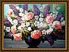 Картина в багетной раме Сирень Розы Колокольчики 300х400мм №656