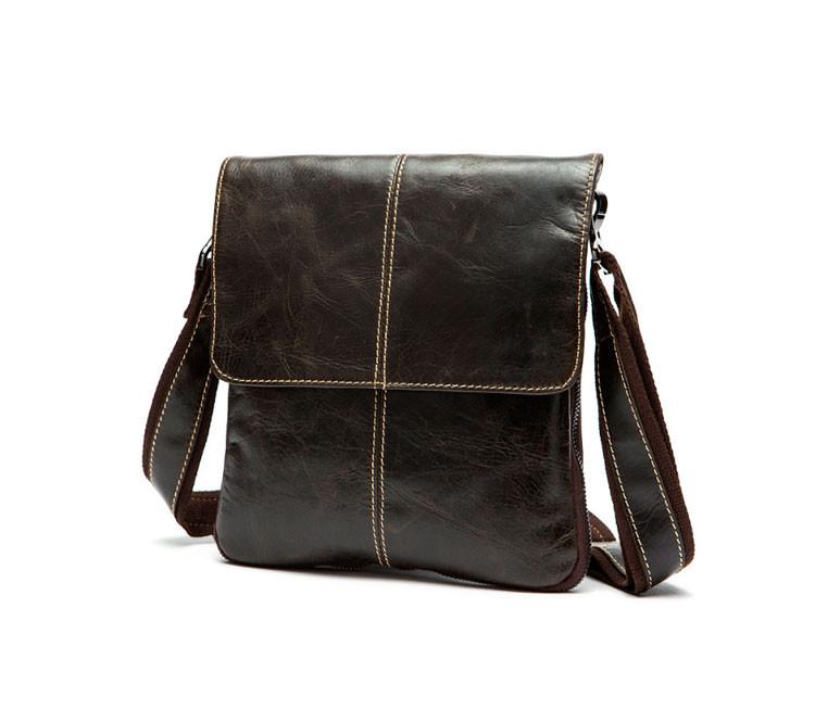 Мужская кожаная сумка Marrant | темно-коричневая - smartBAG в Днепре