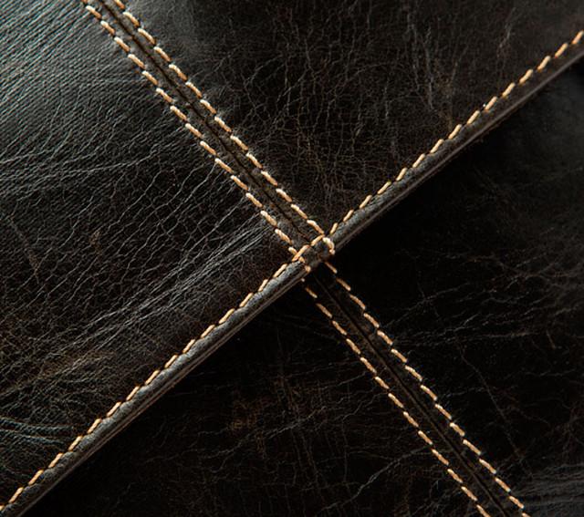 Мужская кожаная сумка через плечо Marrant | темно-коричневая