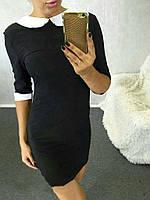 Платье женское короткое трикотажное с рубашечным воротником P3295