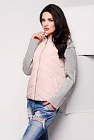 Куртка женская LS-8604 пудра