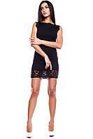 Красивое платье Висконсин с гипюром черного цвета