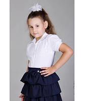 Блузка для школы, с коротким рукавом, рост 122-134 см