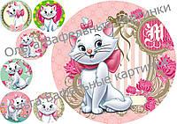 Вафельная картинка Кошечка Мэри
