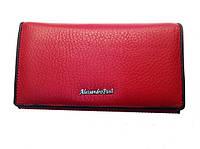 Женский кошелек Alessandro Paoli WS-2 красный из натуральной кожи размер 17х9 монетница внутри