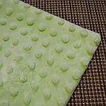 Отрез плюш minky М-21 размером 100*80 см салатового цвета, фото 2