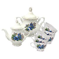 Набор чайный 8пр. Незабудка (чашка-200мл;чайник-700мл; сахарн.-500мл)