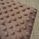 Отрез плюш minky М-16 размером 40*40 см коричневого цвета, фото 2