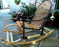 Качалка плетеная с оригинальным дизайном   кресло-качалка для отдыха садовая для дачи, фото 1