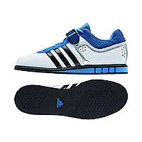 Штангетки Adidas PowerLift 2.0 (белые с синим) 40.5