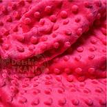 Лоскут ткани minky М-14  малинового цвета, фото 2