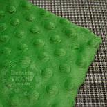 Отрез плюш minky М-3 размером 80*80 см тёмно-зелёного цвета, фото 3