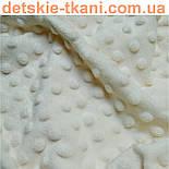 Отрез плюш minky М-13 ,размером 75*105 цвета слоновой кости, фото 3