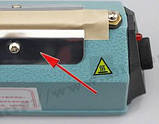 Запайщик пакетов ремкомплект 3мм x 400мм нагревательный элемент FS400 PFS400 SF400 PSF400 пайщик, фото 6