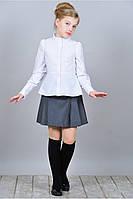 Стильная школьная блуза с баской из натуральной ткани