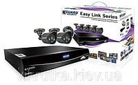 Комплект видеонаблюдения на 4 камеры KGuard EL421-2HW212B Easy Link. Бесплатная доставка по Украине. [spdk]