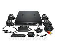 Комплект видеонаблюдения Tenex CCTV-4В для внутренней установки. Бесплатная доставка по Украине.