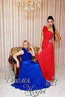 Вечернее платье с цветком. /Синее, Красное/ 8 цветов