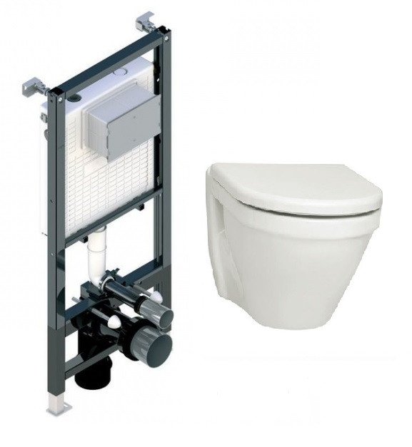 Инсталяційна система Koller Pool Ancora ST1200, унітаз підвісний S50, сидіння SoftClose,  панель зливу, фото 1