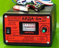 Аида 6m гелевый/кислотный: зарядное устройство с плавной регулировкой тока для авто аккумуляторов 4-75 Ач