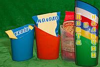 Подставка — стакан (под пакет с молоком, кефиром, сметаной).