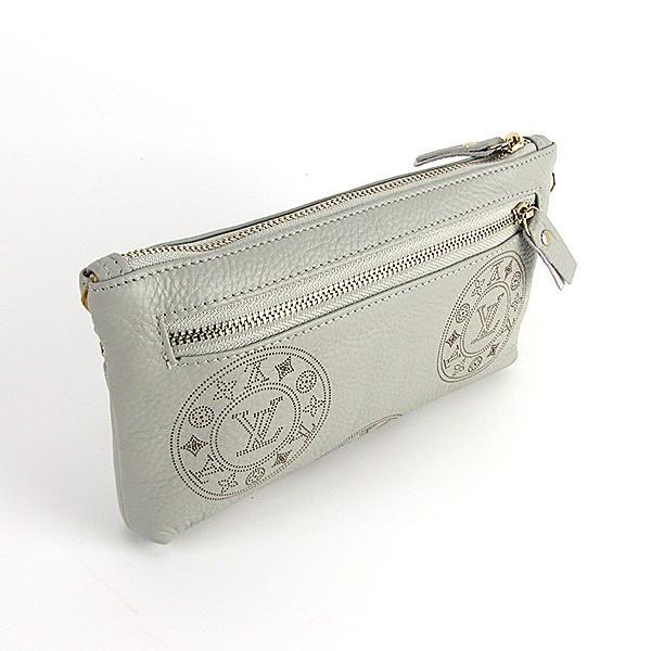 e70ec117baf9 Клатч - кошелек женский натуральная кожа светло-серый Louis Vuitton 1870,  ...