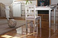 Ковер под кресло для защиты пола прозрачный 125х135см. Толщина 1,0мм