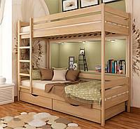 Кровать из массива дерева 042