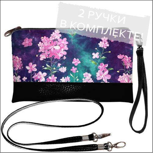 Женская сумочка клатч  - загадка цветков