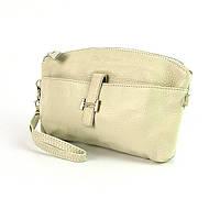 Бежевый кожаный клатч-кошелек женский №cg1103bei