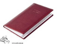 Записная книжка алфавитная Brunnen Soft 87х153мм 144 листа бордовая