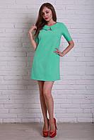 Модное молодежное платье с воротничком прямого фасона
