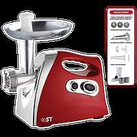 Электромясорубка ST 41-120-06-Красный (2 кВт, терки, насадка для томатного сока)