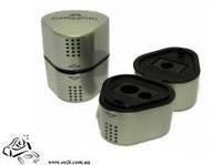 Точилка Faber-Castell Grip-2001 с пластиковым контейнером двойная