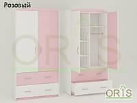 Детский шкаф Oris-mebel бело-розовый