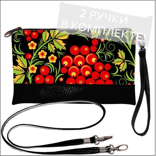 Женская сумочка клатч  - Ягода-Калина