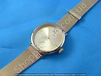 Женские часы Skmei 114236 золотистые плетеный браслет диаметр 3,2 см, фото 1