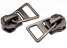 Бегунок №5 на металлическую молнию (без фиксатора), цв.темн.никель, арт. HH-3996