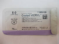 Викрил с иглой колющей (5/0) ,фиолетовый М1, 75 см, игла колющая RB-1 Plus (W9105) / Johnson&Johnson